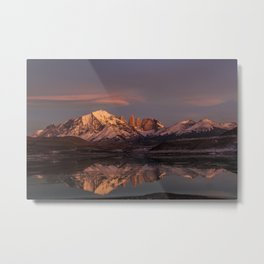 Sunrise at the Sarmiento Lake | Torres del Paine National Park, Patagonia Metal Print