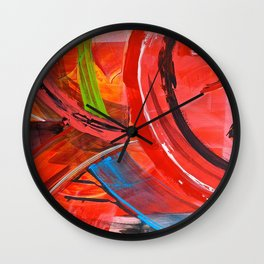 IBIZA - colorful abstract painting Wall Clock