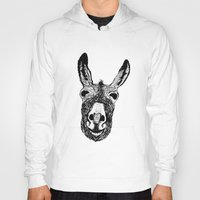 donkey Hoodies featuring Wonky Donkey  by Yann Thompson