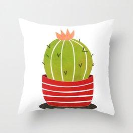 A cactus in a pot Throw Pillow