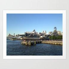 Space Shuttle Enterprise, Intrepid Flight Deck, New York City, USA Art Print