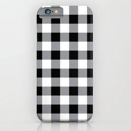 Farmhouse Style Black Buffalo Check Pattern iPhone Case