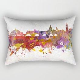 Dresden skyline in watercolor background Rectangular Pillow