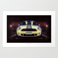 mini cooper Art Prints featuring Mini Cooper S by Urbex :: Siam