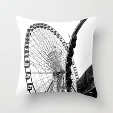 At the Fair: Round and Round Throw Pillow