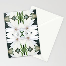 Art Nouveau White Flower Stationery Cards