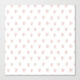 Be My Valentine - Heart Pattern Canvas Print