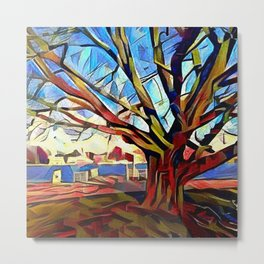 Tree on the Alster Metal Print