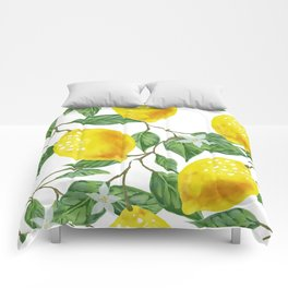 TROPICAL LEMON TREE Comforters
