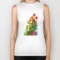 poison ivy Biker Tanks featuring Poison Ivy by aken