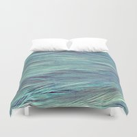 feather Duvet Covers featuring Feather by RUEI