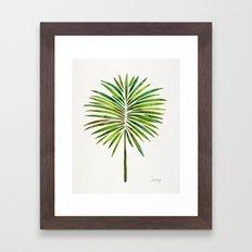 Tropical Fan Palm – Green Framed Art Print