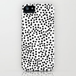Black Polka Dots iPhone Case