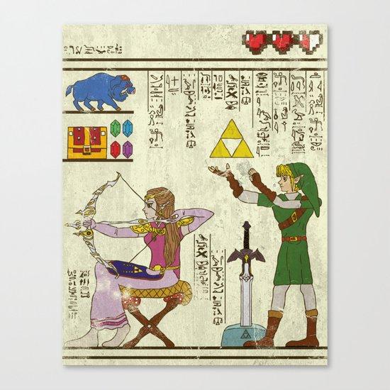 hero-glyphics: Hyrule History Canvas Print