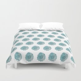 happy blue watercolor flowers Duvet Cover