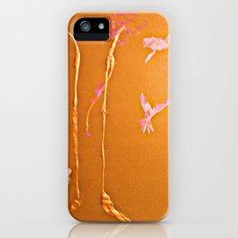 Parrots In The Golden Tree iPhone Case