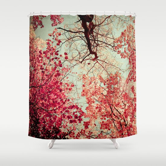Autumn Inkblot Shower Curtain