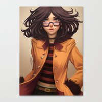 charmaine olivia Canvas Prints featuring Olivia by Rafa ArSen