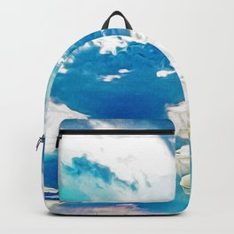 Very cloudy sky after a storm in spring Backpack