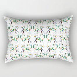 Whimsical Leafly Cat Rectangular Pillow