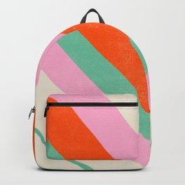 lima, vintage chevron stripes Backpack