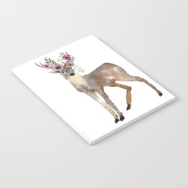 Boho Chic Deer With Flower Crown Notebook