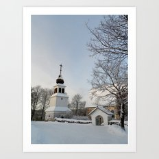 Belfry in Winter Art Print