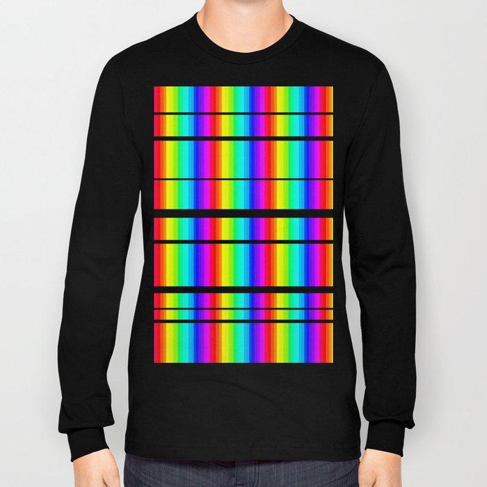 Rainbow Line #society6 Long Sleeve T-shirt