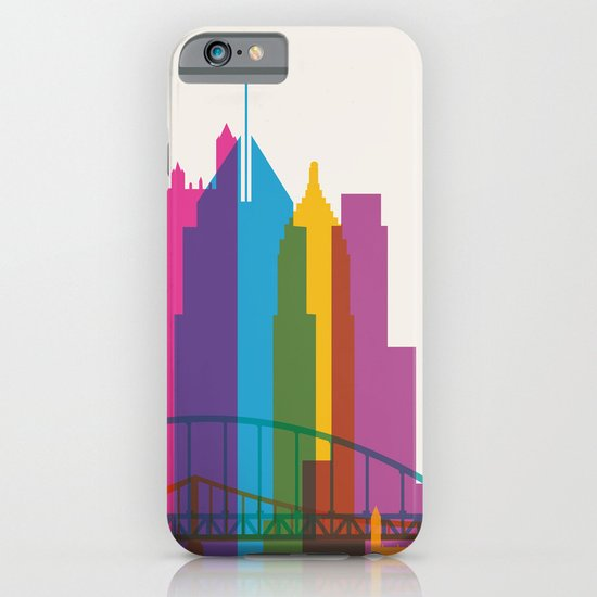 Shapes of Pittsburgh. Accurate to scale iPhone & iPod Case