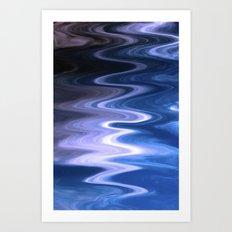Turbulent  twirl Art Print