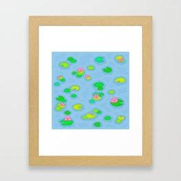 Pixel Lake Framed Art Print
