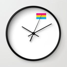 Pansexual Flag design LGBTQ Pride Gift Idea Wall Clock