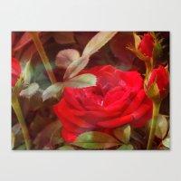 ruby Canvas Prints featuring Ruby by Aubrey
