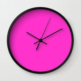 Razzle dazzle rose - solid color Wall Clock
