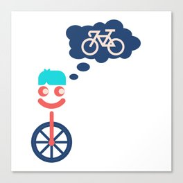 The Unicycle That Wanted To Be A Bicycle Canvas Print