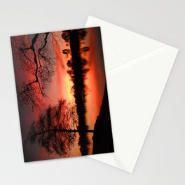 Sunset Lake. © J. Montague. Stationery Cards
