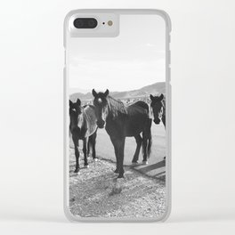 Cold Creek Horse Crew Clear iPhone Case
