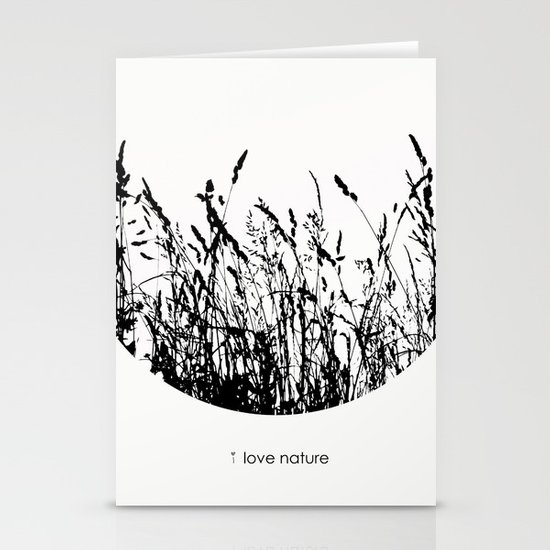 i love nature Stationery Cards