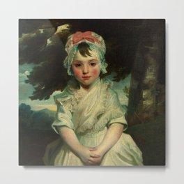"Sir Joshua Reynolds ""Georgiana Augusta Frederica Elliott (1782–1813), Later Lady Charles Bentinck M"" Metal Print"