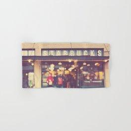 Seattle Starbucks photograph. A Star is Born Hand & Bath Towel