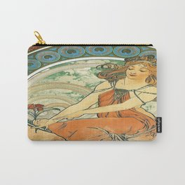 Vintage poster - Woman with flower Carry-All Pouch