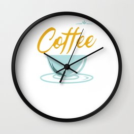 Coffee Into Code Funny Caffeine Beverages Coffee Brewer Beans Gift Wall Clock