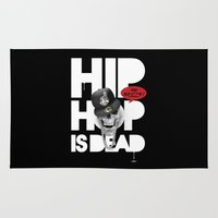 hiphop Area & Throw Rugs featuring HipHop is Dead... by Frankie White