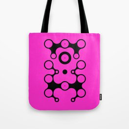 Lichtoglyphs - black on pink Tote Bag