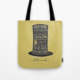 Abraham Lincoln's Gettysburg Address Tote Bag