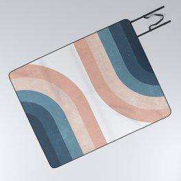 70s Rainbow Picnic Blanket