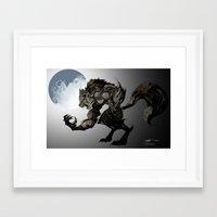 werewolf Framed Art Prints featuring Werewolf by Michelena