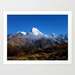 Panoramic View Of Annapurna Ghorepani Poon Hill Art Print