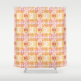 Summer Vibes Tie Dye in Sunrise Orange Shower Curtain