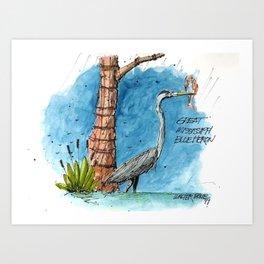 Mississippi Great Blue Heron Art Print